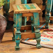 Western Bedroom Furniture Western Furniture 24 Inch Old Wood Turquoise Barstool Lone Star