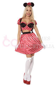 Minnie Mouse Costume Ladies Minnie Mickey Mini Mouse Costume Fancy Dress Halloween Hens