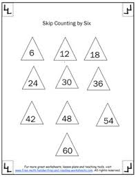 skip counting by sixes worksheets u0026 activites