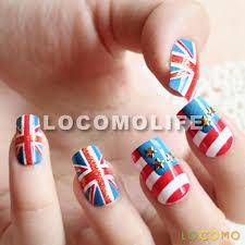 us uk flag patriot patriotic false fake nail tip art nac016 us