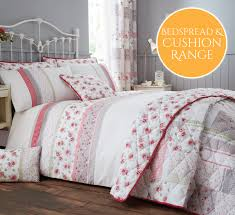 Grey Quilted Bedspread Summer Pink U0026 Grey Quilted Bedspread U0026 Cushions Range Harry