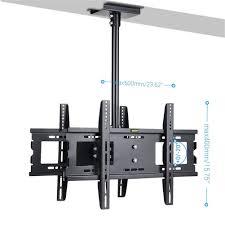 double 32 65 u201d large ceiling mount tv bracket u2013 adjustable lcd led