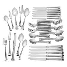 mont clare stainless 65 piece flatware set waterford us