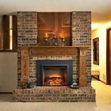 electric fireplace logs home depot image best decor flame insert