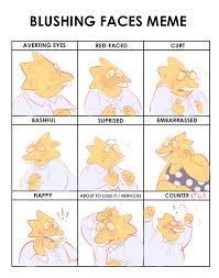 Blushing Meme - blushing meme alphys weasyl