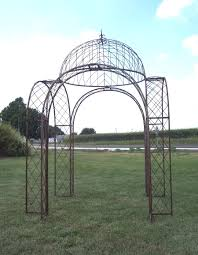 Metal Top Gazebo by 4 Arches Wrought Iron Gazebo Dome Top Structure