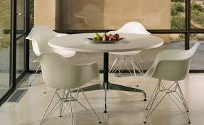 eames round table with veneer top u0026 edge hivemodern com