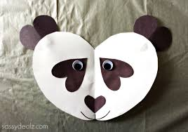 panda bear heart craft for kids crafty morning