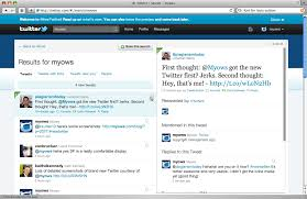 layout of twitter page screenshots of the new twitter
