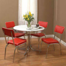 cheap red dining table and chairs vintage kitchen chairs ebay