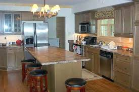 One Wall Kitchen With Island Single Wall Kitchen With Island Design Beautiful One Wall Kitchen
