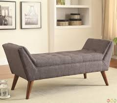 Foot Of Bed Bench With Storage Bench Bedrooms Long Storage Ottoman Mid Century With Regard To