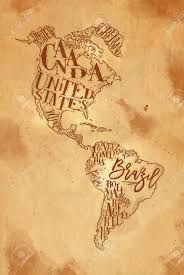 map of united states canada vintage america map with country inscription united states canada