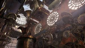 steampunk art in 3d modeling steampunk environment and matte