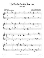 his eye is on the sparrow piano sheet by