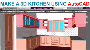 Easy To Use Kitchen Design Software Modeling A Kitchen Using Autocad Part1 Youtube