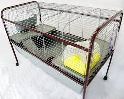 Rabbit Hutch Indoor Large X Large Rabbit Hutch Guinea Pig Cage W Plastic Tray Rabbit