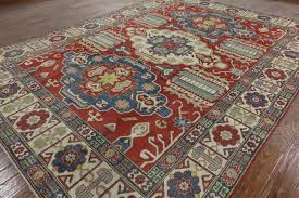 Floral Area Rug Exquisite Antique Wash Floral 10x13 Hand Knotted Super Kazak Wool