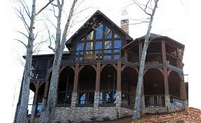 House Plans For Sloping Lots In The Rear Appalachia Mountain A Frame Lake Or Mountain House Plan With Photos