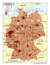 map germany population density map of germany
