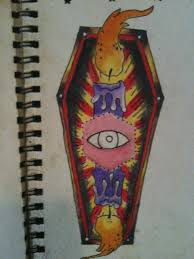 coffin candle tattoo flash by zombong on deviantart