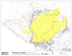 Caltrans District Map Thomas Fire Grows To 65 000 Acres Overnight Burns Down To Highway