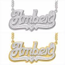Name Plates Necklaces Gold Name Necklace Ebay