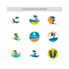 Travel logos set vector premium download