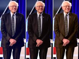 bernie sanders u0027 suit at democratic debate inspires twitter speculation