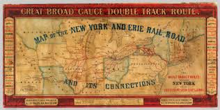 New York And Boston Map by Map Of The New York And Erie Rail Road And Its Connections