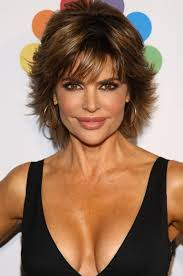 back view of lisa rinna hairstyle short layered haircut for thick hair lisa rinna hairstyles