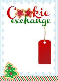 christmas cookie party invitations oxsvitation com