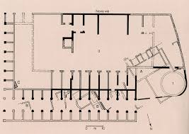 Roman Floor Plan by Plan Of The House Of Vestals Rome Roman Forum