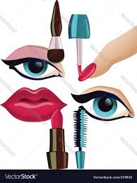 makeup set royalty free vector image vectorstock