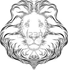 vector art illustration lion head stock photo picture