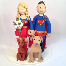 superman cake toppers themed wedding cake toppers totally toppers