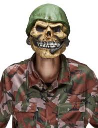 halloween soldier skeleton soldier mask for adults vegaoo