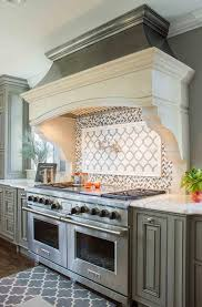 french kitchen backsplash gray french kitchen with gray herringbone cooktop backsplash tiles