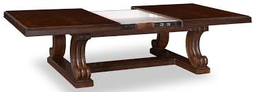 traditional rectangular cocktail table with sliding top u0026 leaf by