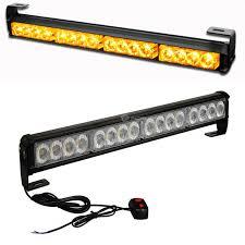 warning light bar amber cyan soil bay 18 16 led emergency warning light bar traffic advisor