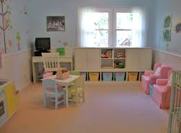 appealing fun playroom ideas for kids with toys shelves and