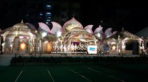 marriage mandap stage flower decorations in hyderababd shobha u0027s