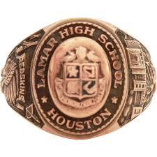highschool class ring 10k lamar high school houston 10k gold 1954 class ring