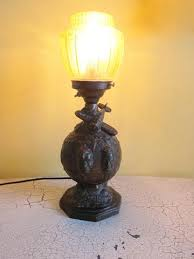 Sculpture Table Lamps Will Rogers U0026 Wiley Post Aviation Decor Table Lamps U2013 Yesteryear