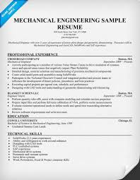 Resume Engineering Examples Mechanical Engineer Resume Examples Sample Resume For Software