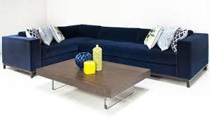 Sectional Sofa Blue Impressive Cecilia Blue Velvet Sectional Sofa Regarding Blue