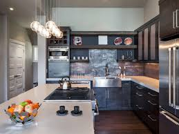 Large Kitchen Cabinet Kitchen Captivating Industrial Kitchens Design With Large Silver