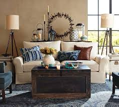 Pottery Barn Area Rugs Bosworth Printed Wool Rug Blue Pottery Barn