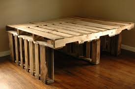 Build Bed Frame With Storage Diy Pallet Bedside Table In Dining Pin It Diy Pallet Bed A Pair A