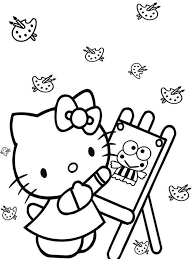 kitty coloring pages download print kitty